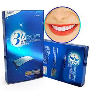 Teeth Whitening Strips Dental Grade Tooth Whitener, Safe and Effective Formula White Teeth Whitening Kit with 14 Treatments 28 Individual Mint Flavor Strips for Sensitive Teeth