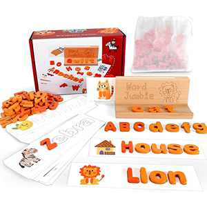 Learning Educational Toys for 3 4 5 6 Years Old Boys and Girls Spelling Games Preschool Kindergarten Flash Cards Alphabet Learning Activities Gift for Kids Toddlers Matching Letter Games