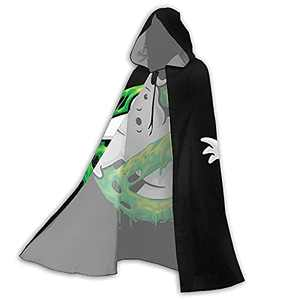 Ghost-busters Hooded Cloak Halloween Wizard Robe Cloak Christmas Cape Cosplay For Men Women Party Favors Supplies Gifts