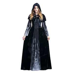 Renaissance Dress for Women Medieval Costume Dress Lace up Irish Over Long Dresses Cosplay Retro Gown Cloak