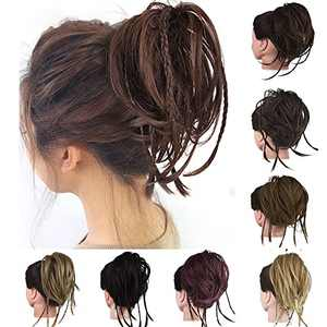 ZERAL Messy Bun Hair Piece Extension Synthetic With Extra Braids Scrunchies Elastic Scrunchies Ponytail Bun HairPiece for Women(6A)