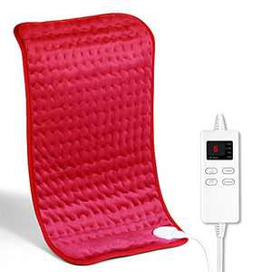 """NAPATEK Heating Pad for Back Pain Relief and Cramp,Extra Large[12""""x24""""] Dry and Moist Therapy Fast Heating, Machine-Washable, Ultra-Soft Microplush, Auto Shut-Off, Heat Pad for Neck and Shoulders-Red"""