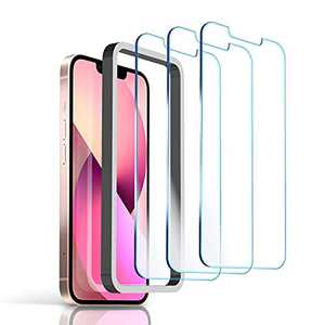 3 Pack Screen Protector Compatible for iPhone 13 Pro Max 6.7 inch, 9H Hardness Premium Tempered Glass 2.5D with Easy Installation Case, Bubble Free, Scratch Resistant-Case Friendly