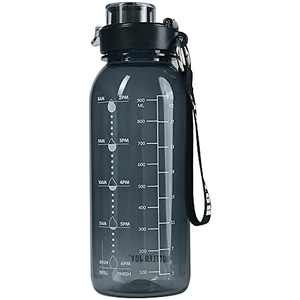 32oz Water Bottle, BPA Free Water Bottle with Motivational Time Marker Reminder Leak-Proof 1L Drinking Bottle Tritan Sports Bottle for Camping Workouts Gym and Outdoor Activity