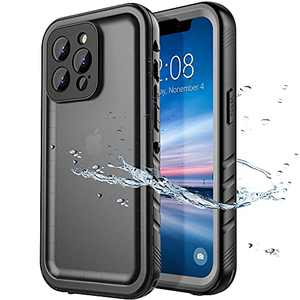 SPORTLINK Compatible with iPhone 13 Pro Waterproof Case - Full Body Shockproof Dustproof Phone Screen Protector Rugged Waterproof Case for iPhone 13 Pro 6.1 Inches Black