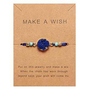 9527 Woven Paper Card Bracelet Resin Hand Woven Bracelet Personalized Jewelry (Dark Blue)