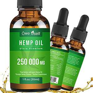 Organic Hemp Seed Oil Drops Extract 250000MG for Pain Relief Natural Hemp Seed Oil Rich in Omеga 3, 6, 9 Helps with Stress Relief Sleep, Skin Care& Hair Growth.Vegan Friendly