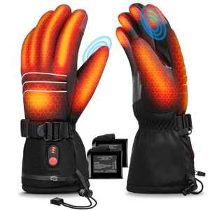 Heated Glove for Men Women, UL Listed 7.4V Upgraded 3200mAh Electric Rechargeable Battery Workout Glove, Waterproof Hand Warmer Glove for Indoor and Outdoor Activities in Winter Extreme Cold Weather L
