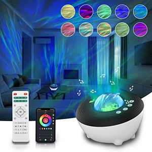 Star Projector, Rikimxin Galaxy Night Light Projector with White Noise Bluetooth Music Speaker Projector Night Light for Kids Adults Galaxy Projector for Halloween Christmas Gift Home Ceiling Party
