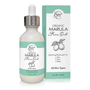 Organic Marula Oil for Face – Luxury Facial Oil for Women. Moisturizer for Skin, Hair & Nails. Virgin & Unrefined. Perfect Facial Massage Oil for Gua Sha & Facial Roller by Brookethorne Naturals – 2oz