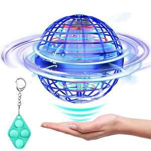 STERGDE Flying Ball Toys, Flying Orb Hover Ball, 360° Rotating Soaring Orb Toy,Nebula Soaring Orb Toy, Magic Led Lights Floating Fly Space Ball (Blue)