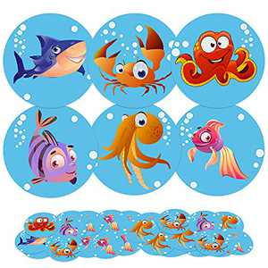 Toilet Targets for Boys, 72 Pack Flushable Pee Aiming Targets for Kids Potty Training, Magic Sea Animal Potty Incentives for Toddlers (2 in)