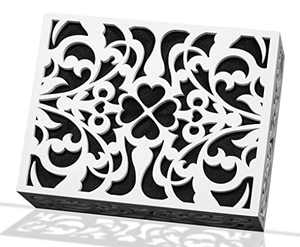 ORYX Doorbell Chime Cover Box Only, White Door Bell Covers for Wall, Wood Piano Paint Design for Decorative