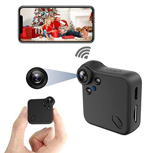 Mini Hidden Camera WiFi Spy Camera Nanny Cam with Audio and Video Recording, HD 1080P Home Live Stream Wireless Security Camera Covert with Night Vision Motion Detection Micro Surveillance Camera
