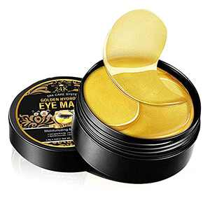 Under Eye Patches, 24K Gold Collagen Eye Masks for Dark Circles Puffiness & Eye Bags Treatment, Moisturizing Skincare and Relieving Eye Fatigue - 30 Pairs