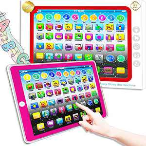 Toddler Learning Toy, Baby Tablet Preschool Child Early Educational Touch Pad for Fun Learn Number ABCs Spelling Animal