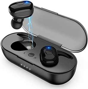 Wireless Earbuds, Bluetooth Headphones with Microphone Bluetooth Earbuds Stereo Calls Extra Bass 36H for Workout,Black
