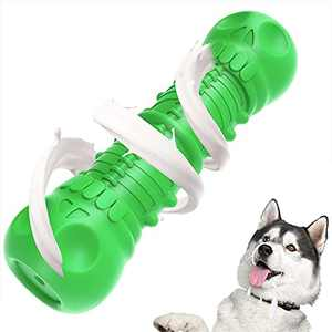 Dog Toys for Large Dogs Aggressive Chewers, Indestructible Dog Chew Toys with Interactive Squeaky Sound, Milk Flavor, Tough Natural Rubber and Teeth Cleaning Chews for Large and Medium Breed