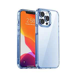 FaRuiX Designed for iPhone 13 Pro Case Thin 6.1 inch Crystal Clear Transparent Reinforced Corners TPU Cushion Bumper Slim Shockproof Protective Phone Case for iPhone 13 Pro
