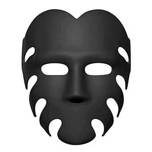 2021 Hot South Korea Movie Squid Game Guard Cosplay Costumes Including The Red Jumpsuit and Mask, Fashion Halloween Costume (Only Black Mask)