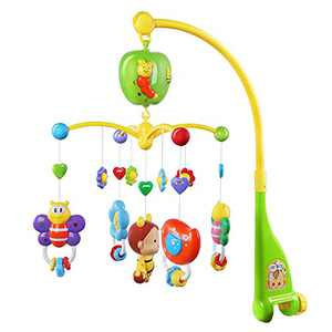 GrowthPic Musical Mobile Baby Crib Mobile with Hanging Rotating Toys and Music Box……