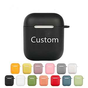 Custom Name Protector for Airpods 1/2/pro case with Keychain,Personalized case protector, Support Words/picture/emoji