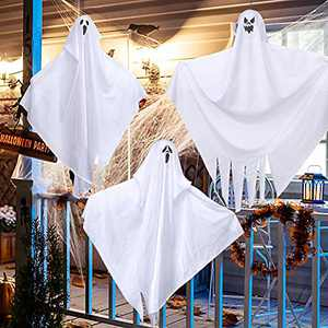 """25.5"""" Halloween Ghost Windsocks (3 Pack) Hanging Halloween Decorations, Cute Flying Hanging Ghosts Wind Socks for Garden Front Yard Patio Decor Halloween Party Decorations Supplies"""