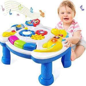 LAGSEAN Baby Toys 6 to 12 Months Musical Learning Table - Baby Toys 12-18 Months Early Education Activity Center Kids Toddler Toys for 1 2 3+ Year Old Boys Girls Birthday Gifts