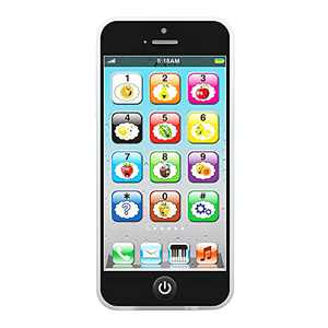 Toddler Learning Toy, Educational Touch Cell Phone Fun for Children Baby Kids with 8 Functions and Dazzling LED Light